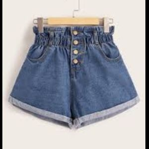 NEW! Shein High Waist Jean Shorts stretchy waist